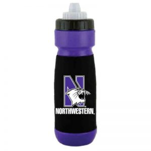 "Northwestern Wildcats FLEXR 32 oz. Bottle with Multi Color ""N-Cat Northwestern"" Design"