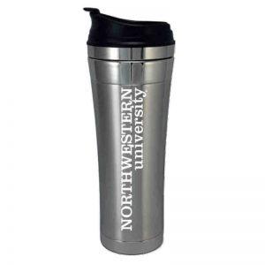 "Northwestern Wildcats 14 oz. Laguna Esquire Stainless Steel Travel Mug with ""Northwestern University"" Design"