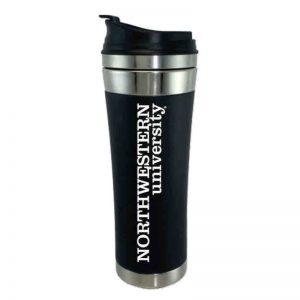 "Northwestern Wildcats 14 oz. Laguna Esquire Black Stainless Steel Travel Mug with ""Northwestern University"" Design"