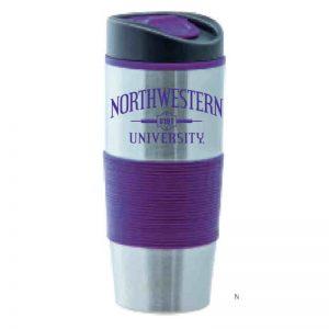 "Northwestern Wildcats 16oz.  Lincoln Tumbler Travel Mug with ""Northwestern University 1851"" Design"