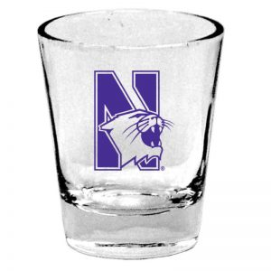 "Northwestern Wildcats 1.5 oz. Clear Shot Glass with ""N-Cat Design"" Design"