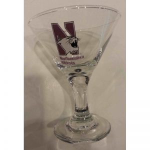 "Northwestern Wildcats 3 oz. Mini Martini Glass with ""N-cat"" Design"