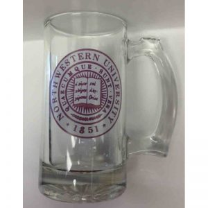 """Northwestern Wildcats 25 oz. Large Beer Mug with """"Two Color Seal"""" Design"""