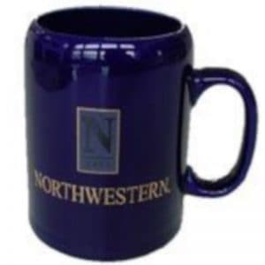 "Northwestern Wildcats 14 oz. Cobalt Purple Ceramic Coffee Mug  with ""Northwestern""  Design"