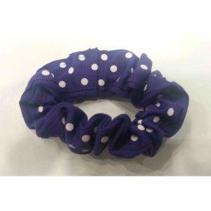 Purple & White Medium Scrunchie