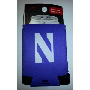 Northwestern Wildcats Purple Collapsible Koozie with N Design