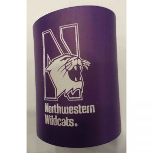Northwestern Wildcats Purple Non-Collapsible Koozie with N Design