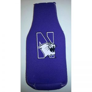 Northwestern Wildcats Purple Zipper Koozie with Multicolor N-Cat Design