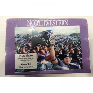 "Northwestern Wildcats Horizontal Purple Metal Picture Frame with ""Northwestern"" Design 4""X6"""