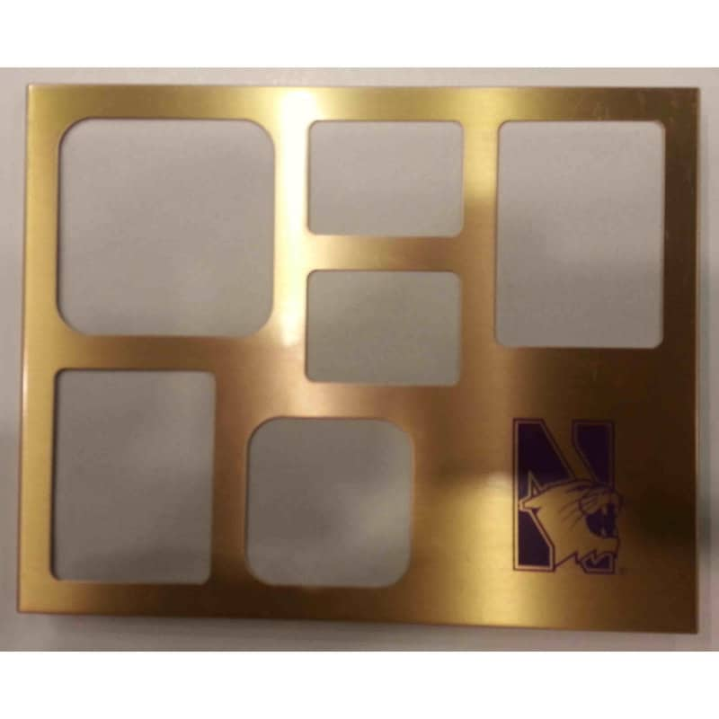 Northwestern Wildcats Multi Image Metal Picture Frame
