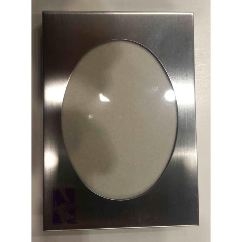 """Northwestern Wildcats Metal Silver Picture Frame 4""""X6"""""""