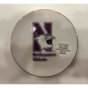 Northwestern Wildcats Ceramic Plate with N-Cat Design 4""