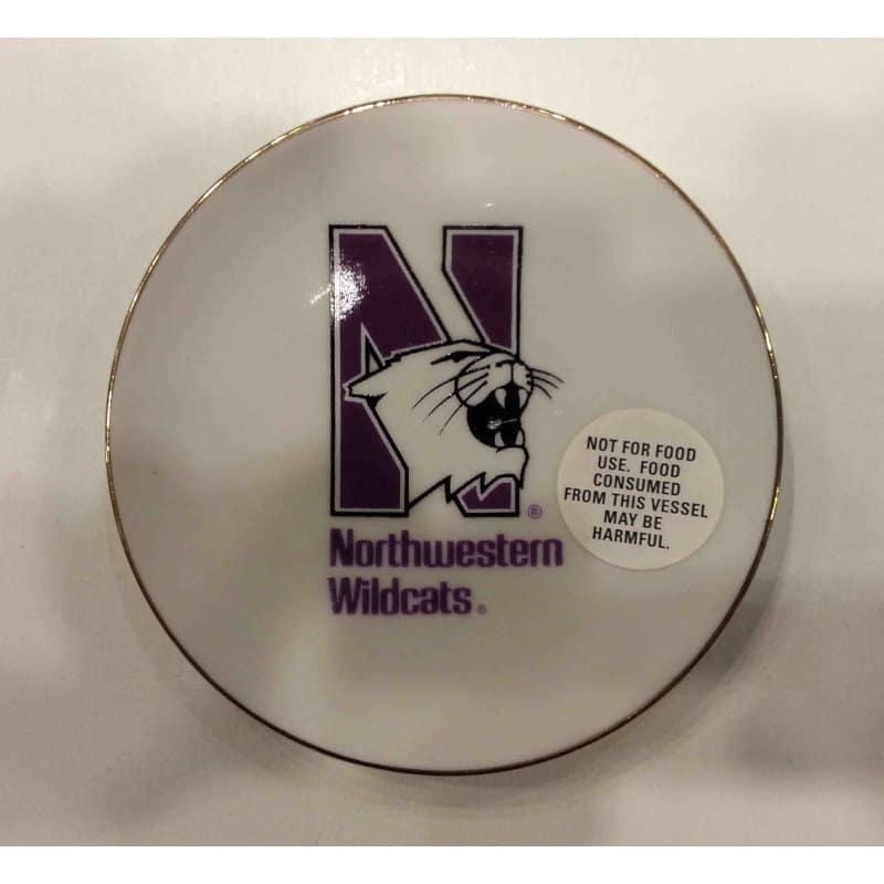 "Northwestern Wildcats Ceramic Plate with N-Cat Design 4"""