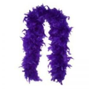 """Purple Feather Boa 4""""X6'"""