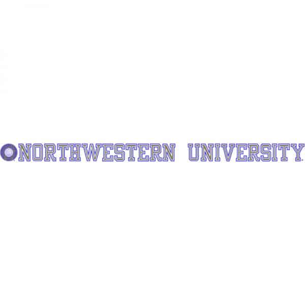 "Northwestern Wildcats Static Cling Inside Application Decal with Seal Design 1.5""X23.5"""