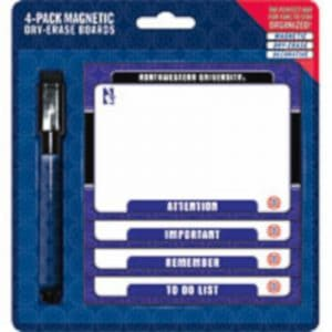 Northwestern Wildcats Magnetic Dry-Erase Board Pack of Four