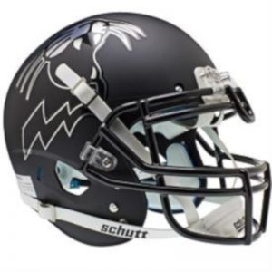 Northwestern Wildcats Alternate Black with Cat Schutt Full Size XP Replica Helmet