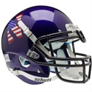 Northwestern Wildcats Alternate USA Flag  Schutt Full Size XP Replica Helmet