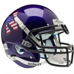 Northwestern Wildcats Alternate USA Flag Schutt XP Full Size Authentic Helmet