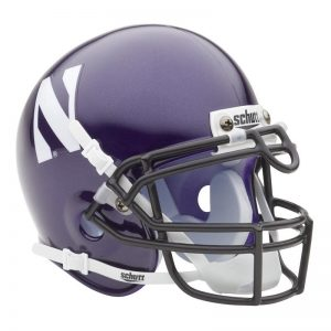 Northwestern Wildcats Schutt Mini Authentic Helmet