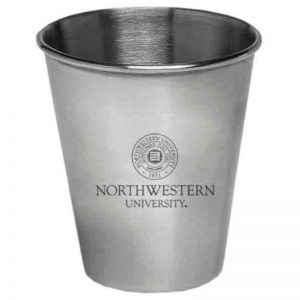 Northwestern Wildcats Stainless Steel Shotglass  with Seal Design