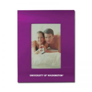 Northwestern Wildcats 4X6 Purple Brushed Metal Portrait Frame with Northwestern University Design