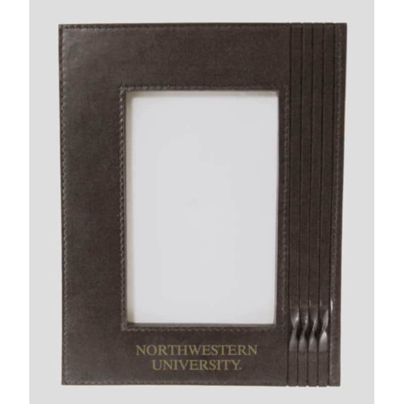 Northwestern Wildcats Brown Leather 4X6 Photo Frames with Northwestern University Design