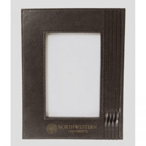 Northwestern Wildcats Brown Leather 4X6 Photo Frames with Seal Design