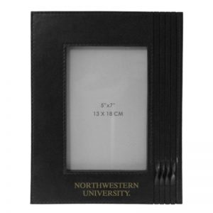 Northwestern Wildcats Black Leather 5x7 Photo Frames with Northwestern University  Design