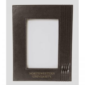 Northwestern Wildcats Brown Leather 5X7 Photo Frames with Northwestern University  Design