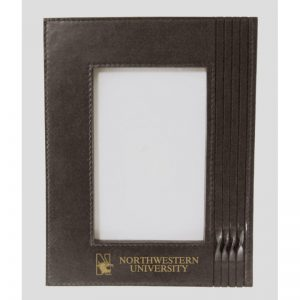 Northwestern Wildcats Brown Leather 5X7 Photo Frames with Mascot Design