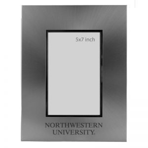 Northwestern Wildcats Polished Silver 5x7 Frame with Laser Engraved Northwestern University Design