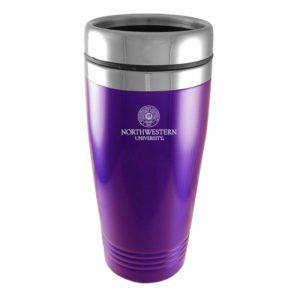 Northwestern Wildcats Laser Engraved Purple 16oz Stainless-Steel Tumbler Mug & Seal Design