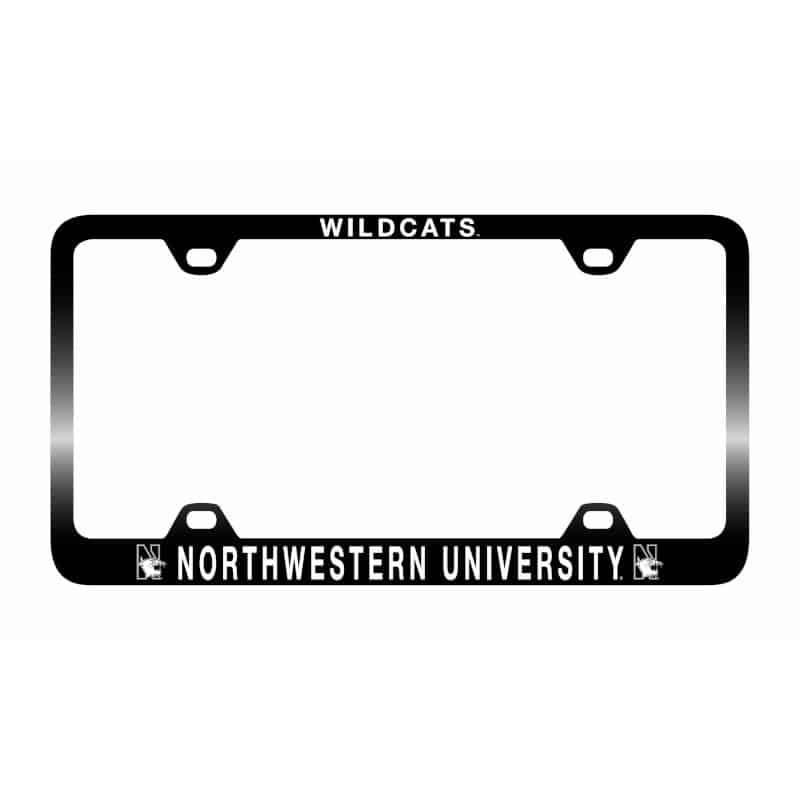 Northwestern Wildcats Laser Engraved Thin Black License
