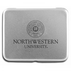Northwestern Wildcats Deck of Cards in Laser Engraved Aluminum Case with Seal Design