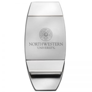 Northwestern Wildcats Laser Engraved Trillium Money Clip with Seal Design