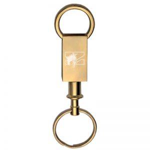 Northwestern Wildcats Laser Engraved Brass Valet Key Chain with Mascot Design