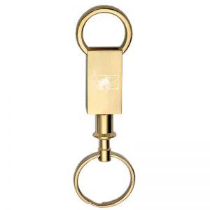Northwestern Wildcats Laser Engraved Brass Valet Key Chain with Mascot & Northwestern Wildcats Design