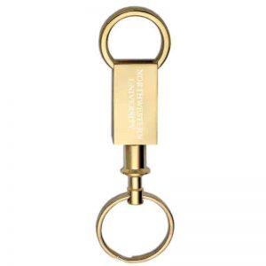 Northwestern Wildcats Laser Engraved Brass Valet Key Chain with Northwestern University Design