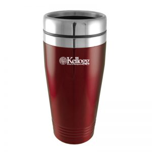 Northwestern Wildcats Laser Engraved Burgandy 16oz Stainless-Steel Tumbler Mug with Kellogg Design