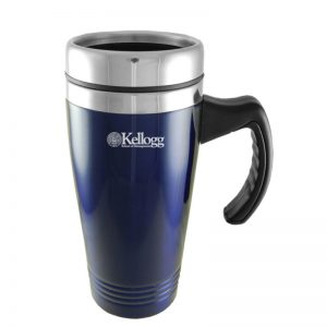 Northwestern Wildcats Laser Engraved Navy 16oz Stainless-Steel Tumbler Mug with Handle & Kellogg Design