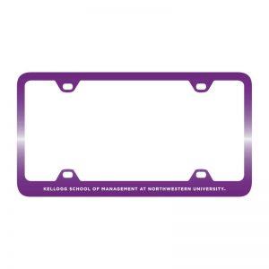 Northwestern Wildcats Laser Engraved Thin Purple License Plate Frame with Kellogg Design