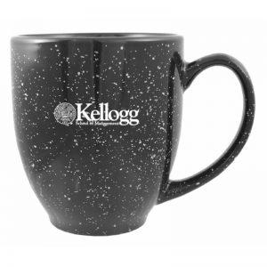 Northwestern Wildcats Laser Engraved Black Ceramic Coffe Mug with Kellogg Design