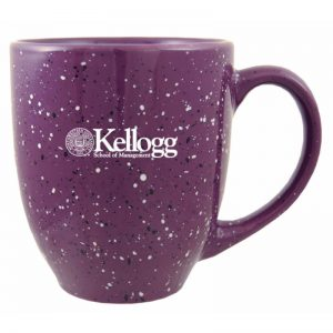 Northwestern Wildcats Laser Engraved Purple Ceramic Coffe Mug with Kellogg Design