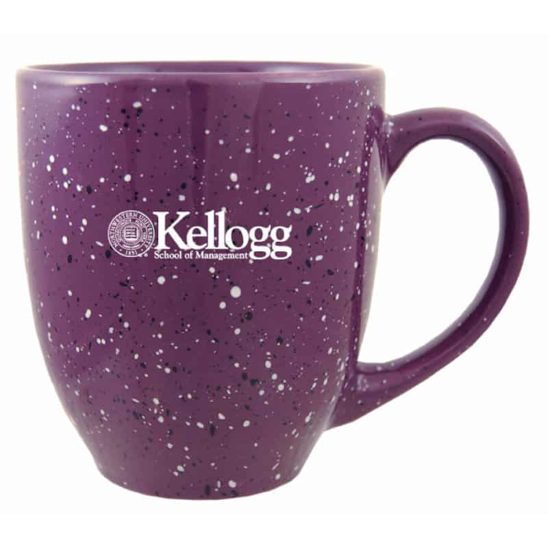 Northwestern Wildcats Laser Engraved Purple Ceramic Coffe Mug with Kellogg Design