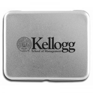 Northwestern Wildcats Deck of Cards in Laser Engraved Aluminum Case with Kellogg Design