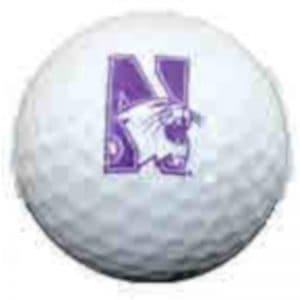 Northwestern Wildcats Golf Ball