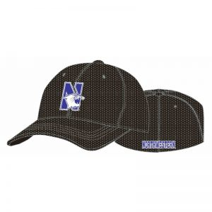 Northwestern Wildcats Black Flexfit Mesh Hat