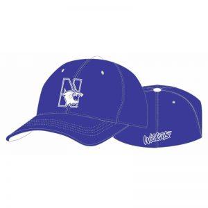 Northwestern Wildcats Purple Flexfit Hat with N-Cat Design
