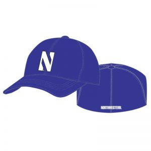 Northwestern Wildcats Purple Flexfit Hat with Stylized N Design